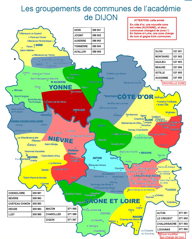Site du snes dijon for Zone commune